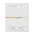 Blue Agate & Gold Adjustable Chain Bracelet
