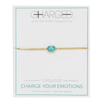 Turquoise & Gold Adjustable Chain Bracelet