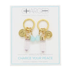 Amazonite & Gold Charm Earrings