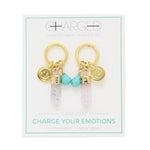 Turquoise & Gold Charm Earrings