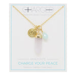 Amazonite & Gold Charm Necklace