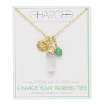Aventurine & Gold Charm Necklace