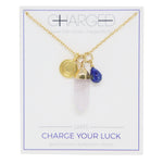 Lapis & Gold Charm Necklace