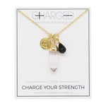 Onyx & Gold Charm Necklace