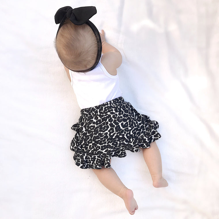 Girls Ruffle Skirt - Animal print