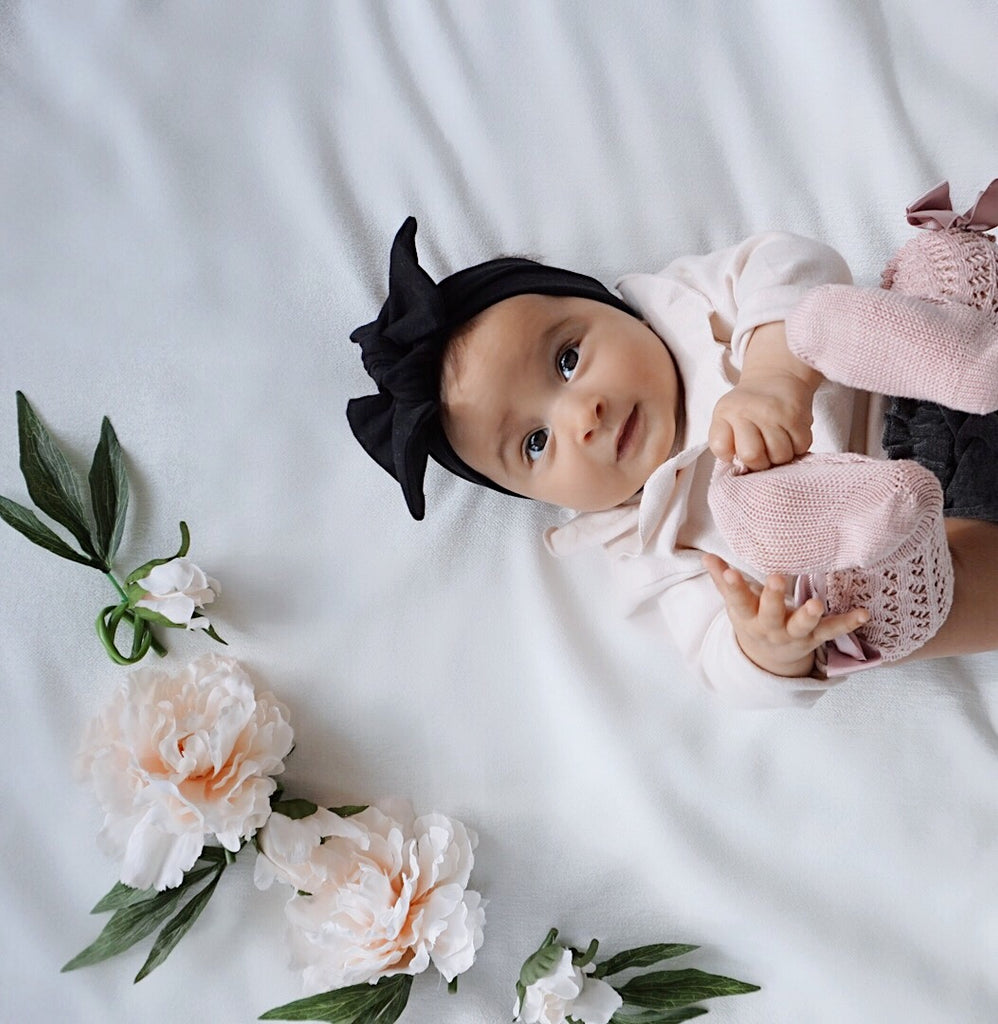 Baby headwrap bow