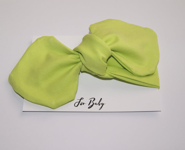 Neon Green Girls Hair Bow