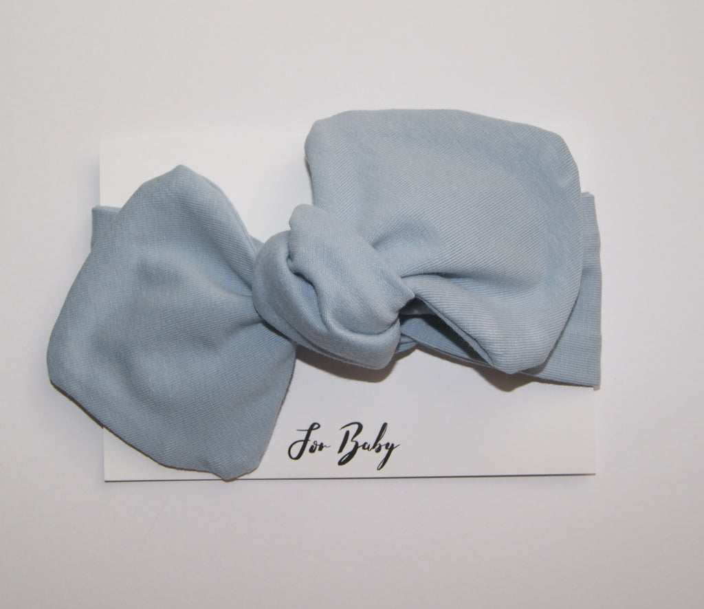 Pastel Blue Baby Bow
