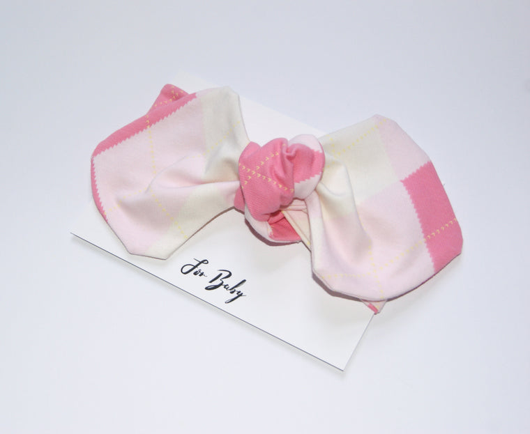 Pink and White Girl headwrap