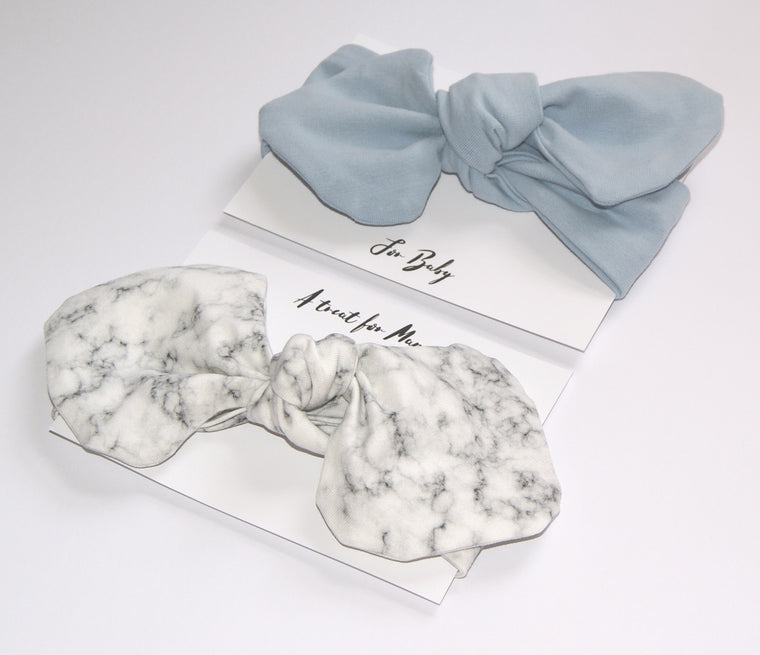 Mummy and Me Headband Gift set- Blue