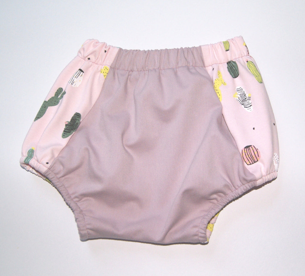 Pink baby girl bloomers
