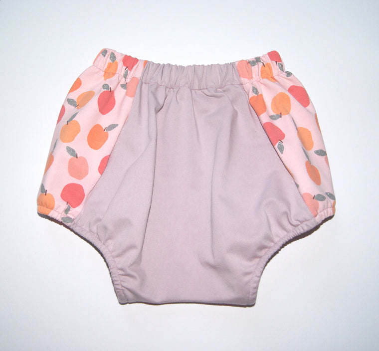 Peach baby girl bloomers