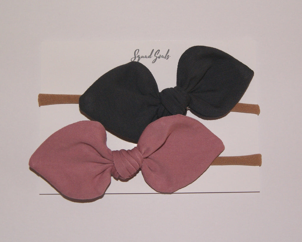 Grey and Pink bows