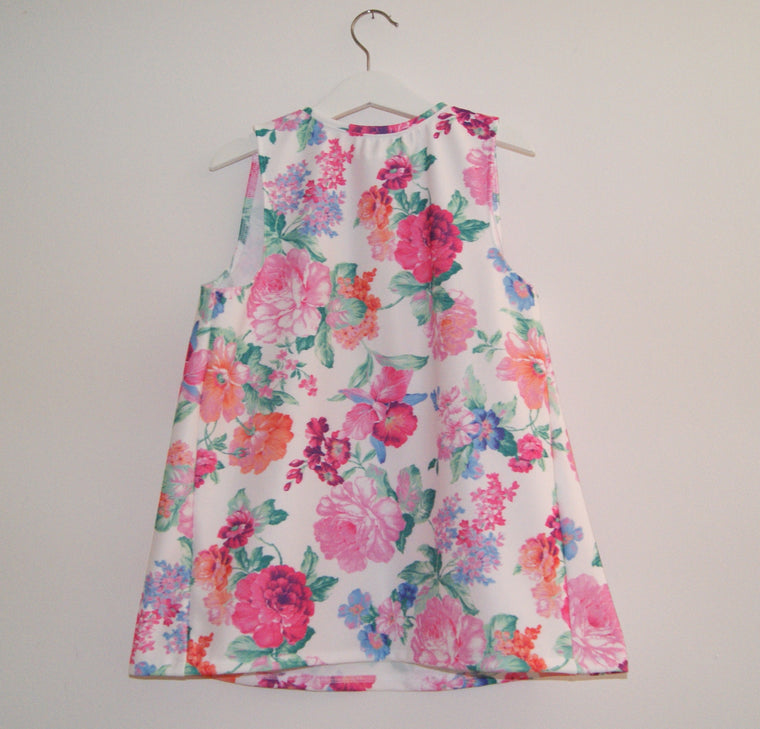 Bright floral girls dress