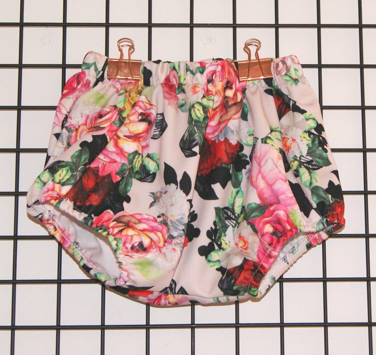 Rose print girls bloomers