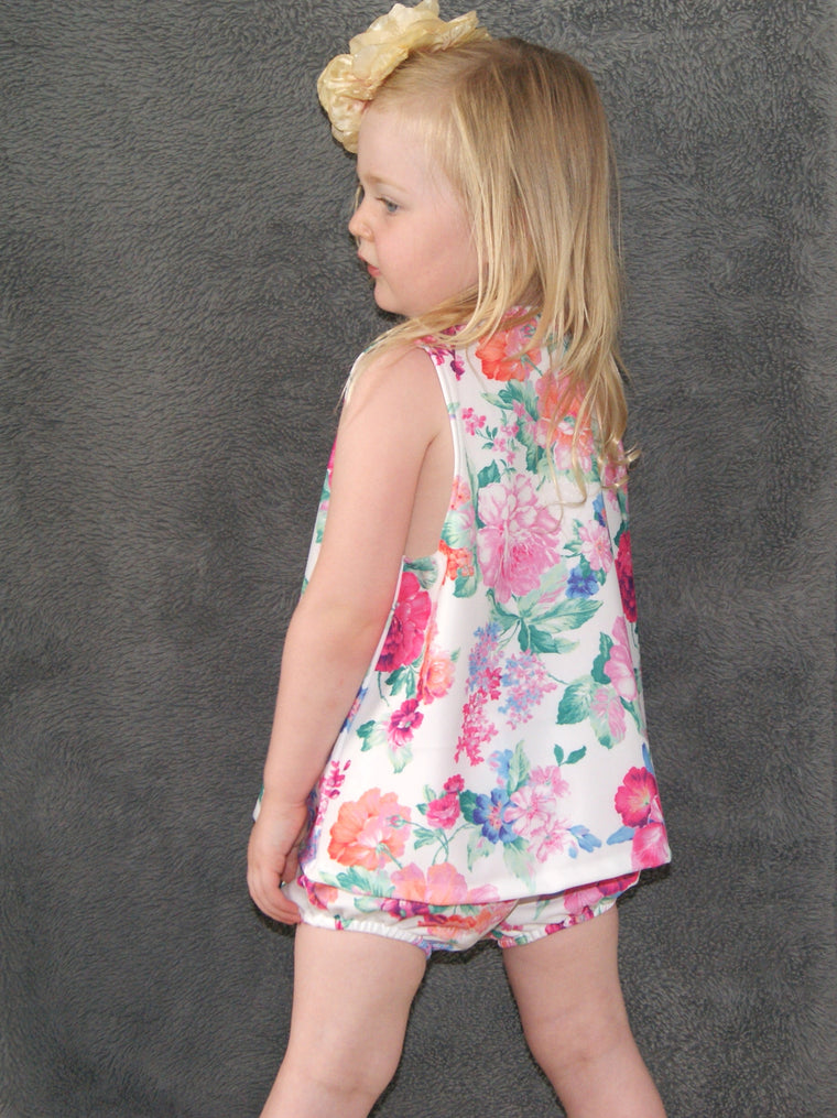 Girls floral swing top