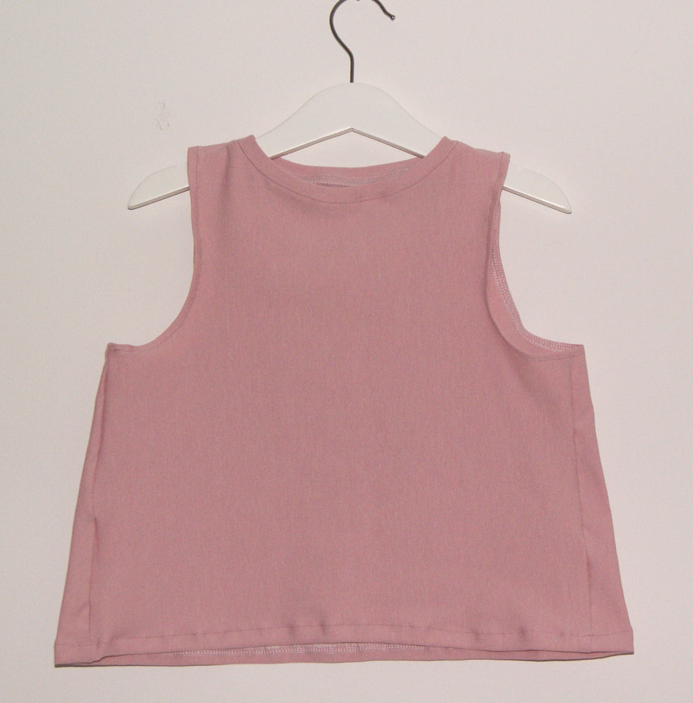 Dusky pink swing top