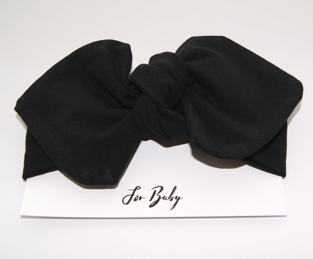 Girls black hair bow