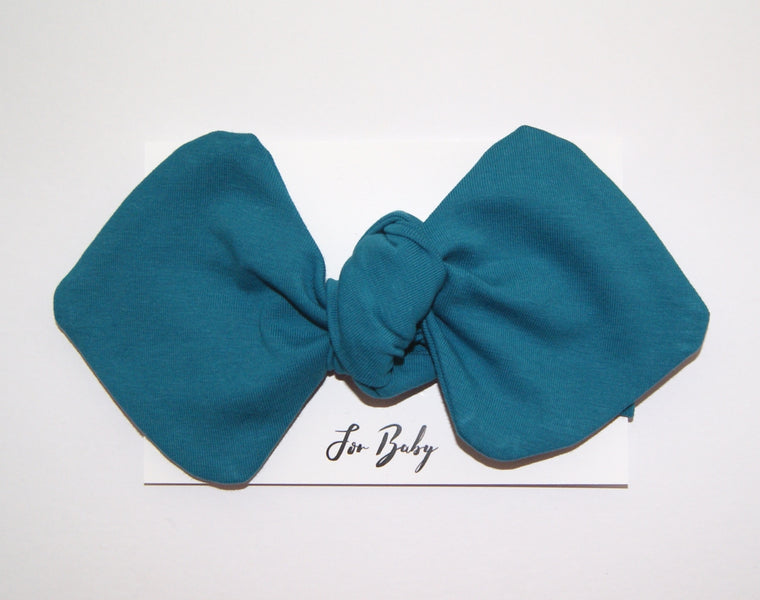 Teal Headwrap Bow