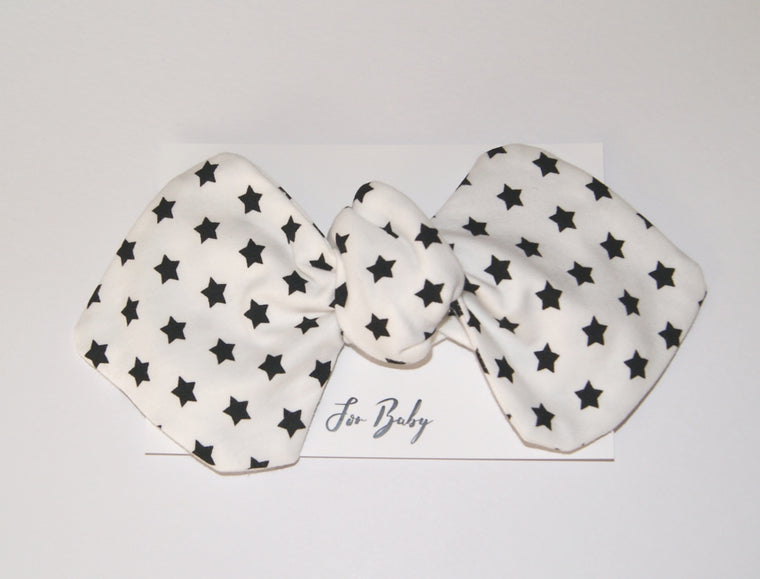 Monochrome star print Bow