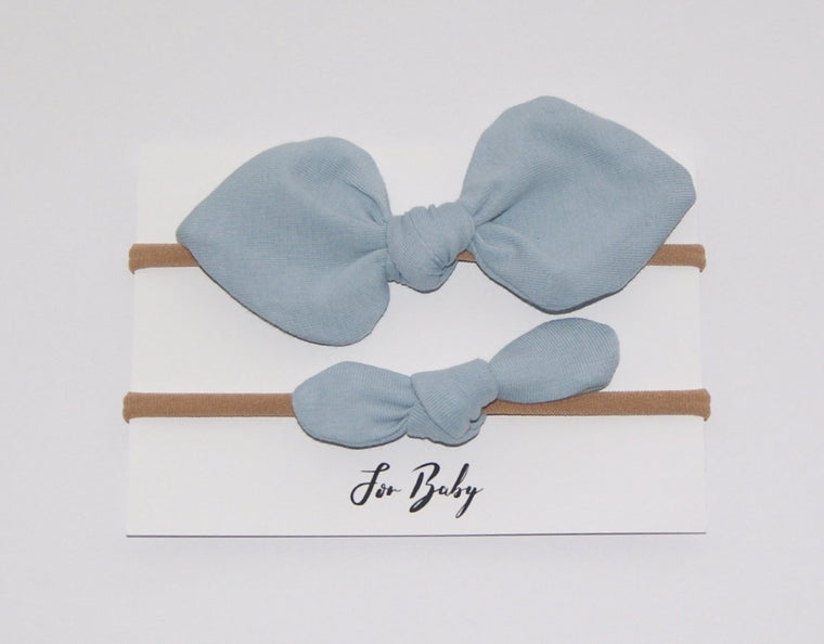 Blue baby headband set