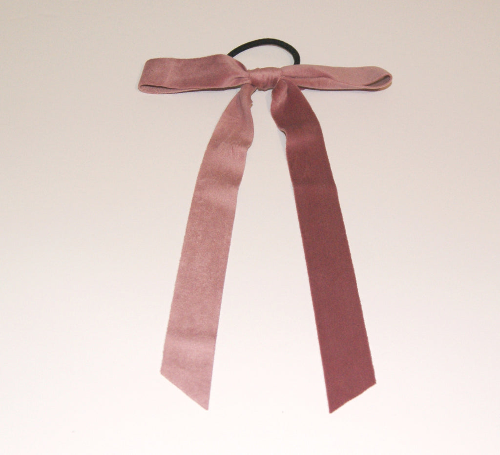 Pink velvet hair ribbon