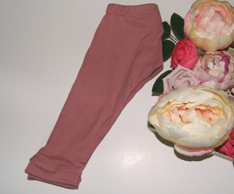Dusky Pink baby leggings