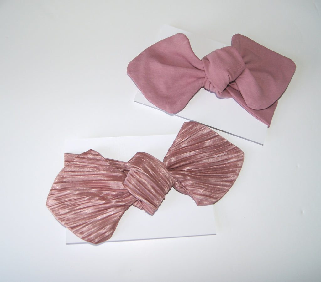 Pleated Rose Headwrap Bow for Baby
