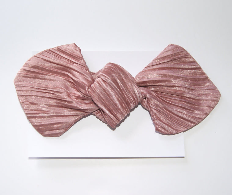 Pleated girls headband
