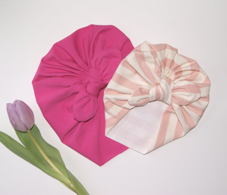 Pink ladies turban hat