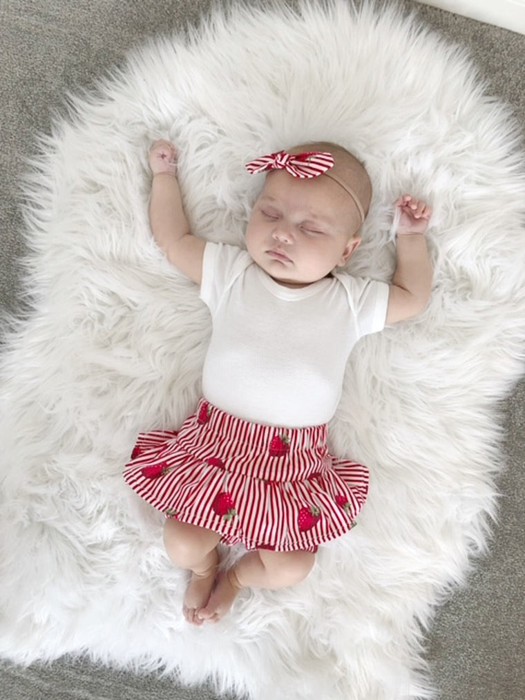 Strawberry baby girl outfit