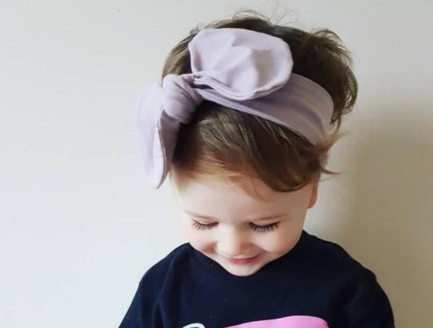 Toddler headband in Dusky Pink