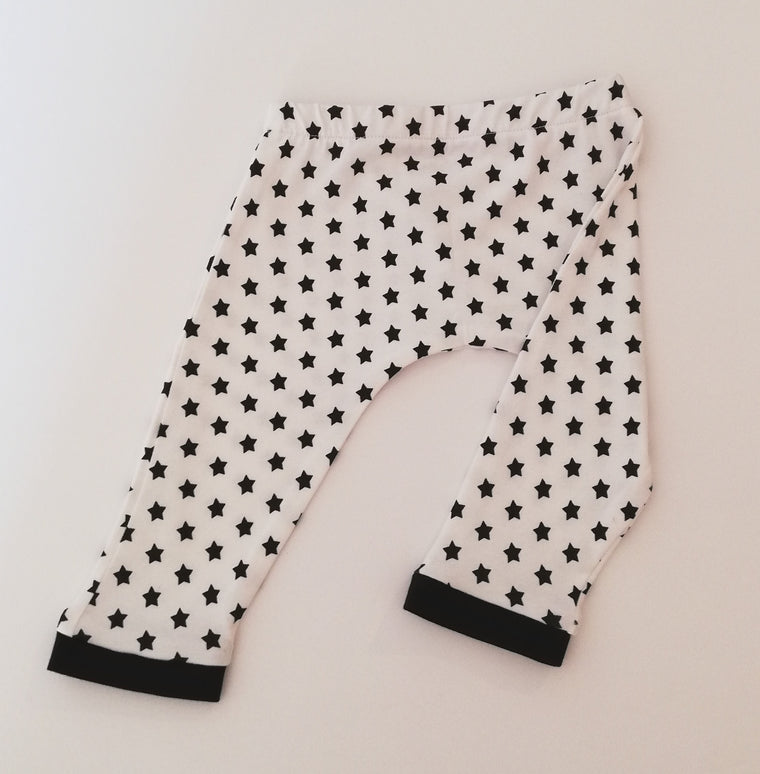 Monochrome Star Leggings- Baby, Child