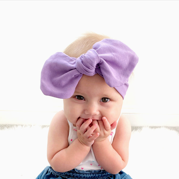 Purple headband for baby
