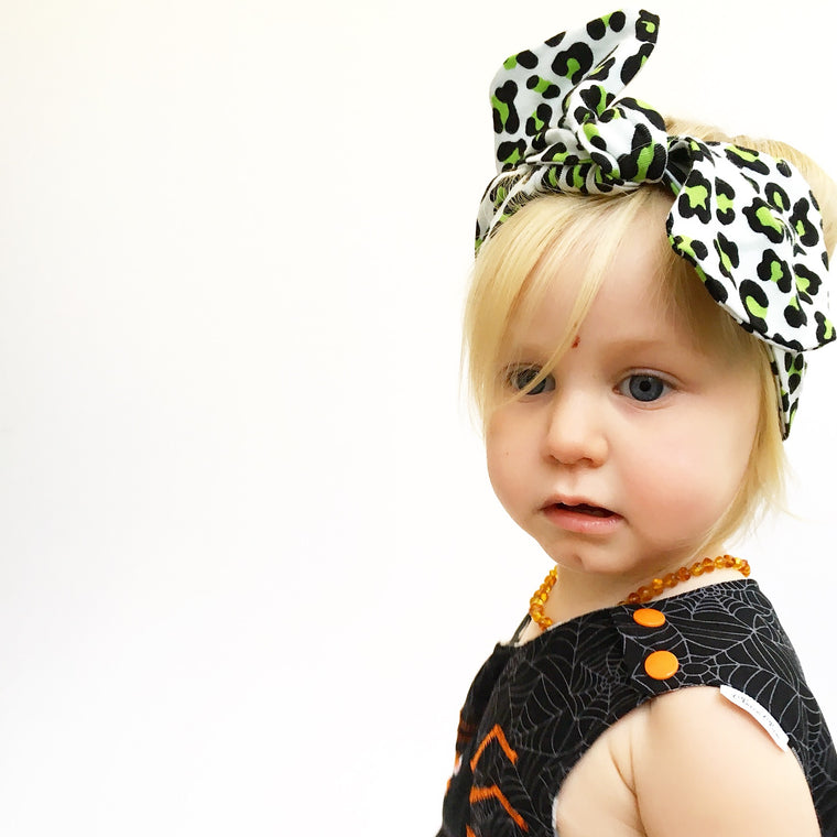 Leopard print girls headwrap