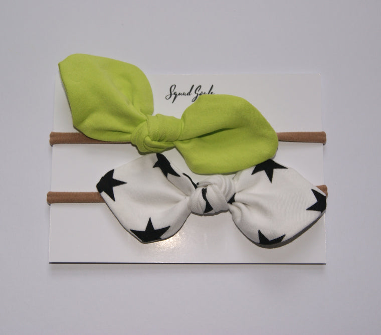 Monochrome and Neon bow set