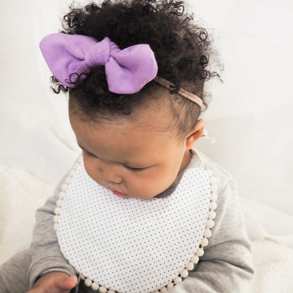 Purple toddler hair bow