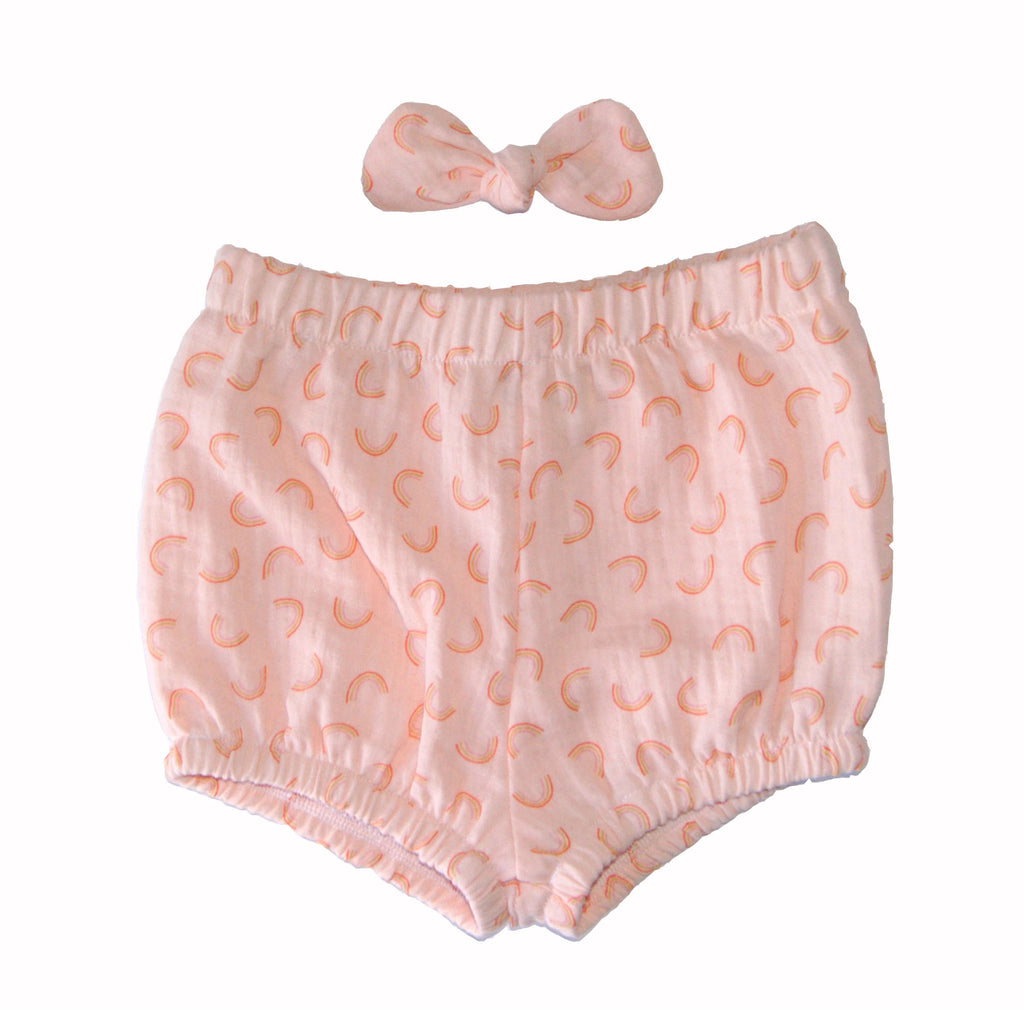 Rainbow baby bloomers