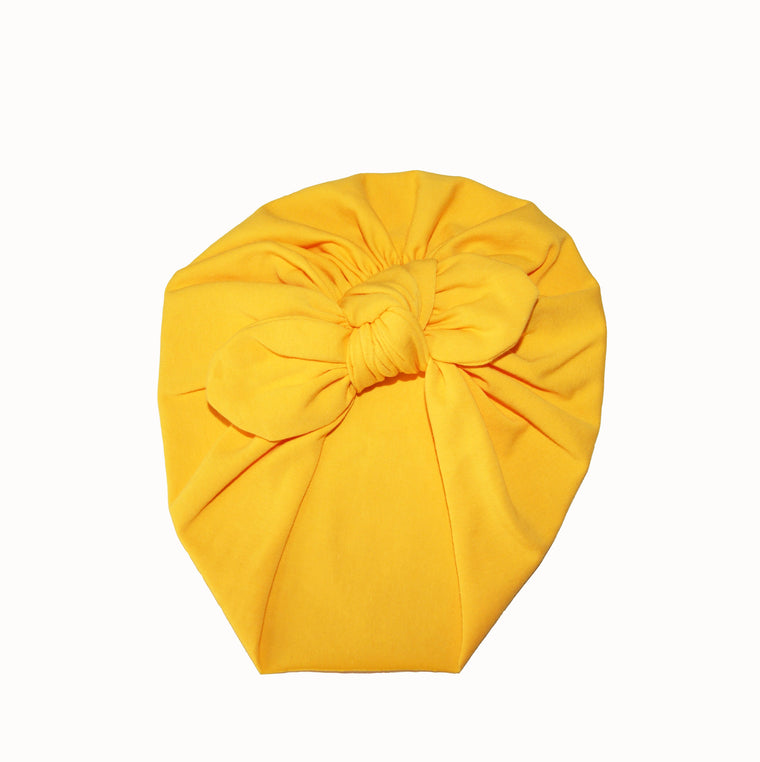 Baby turban with Bow- Yellow