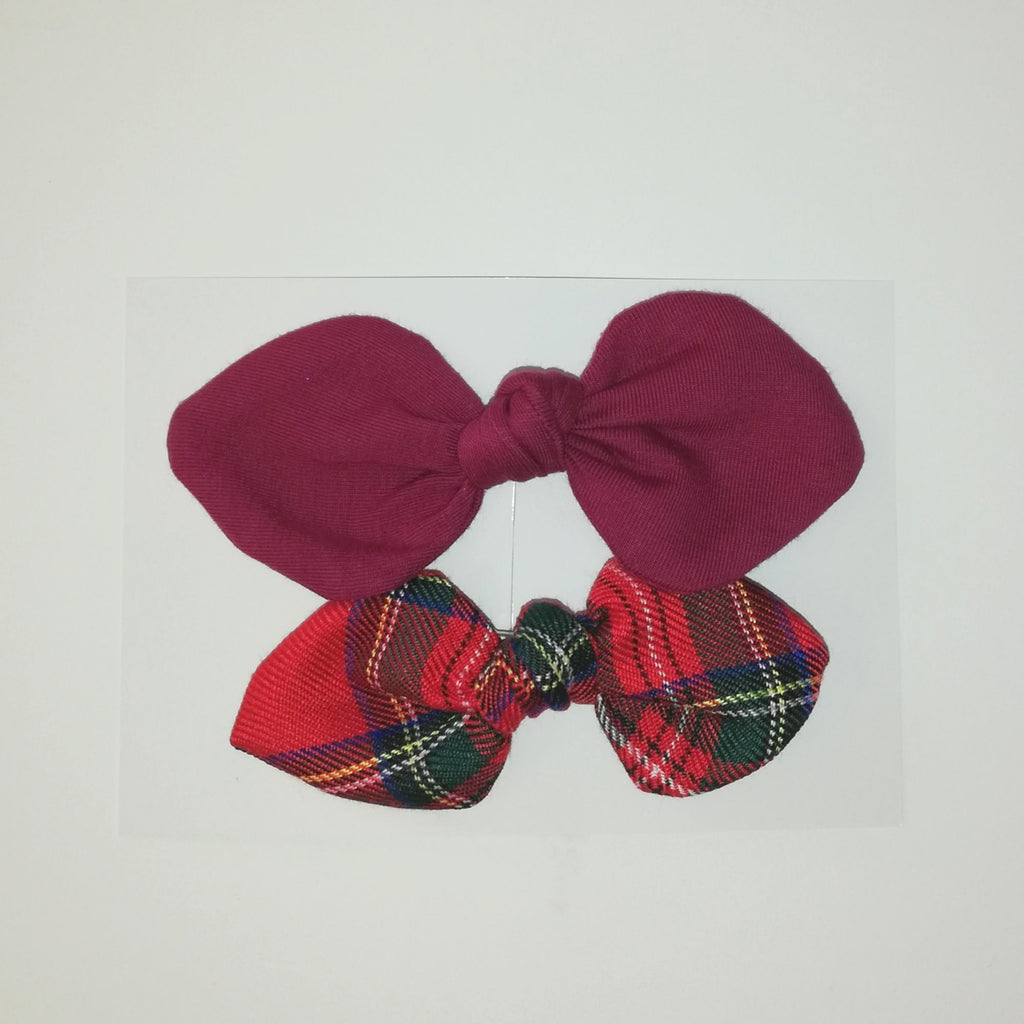 Small Bow set- Tartan