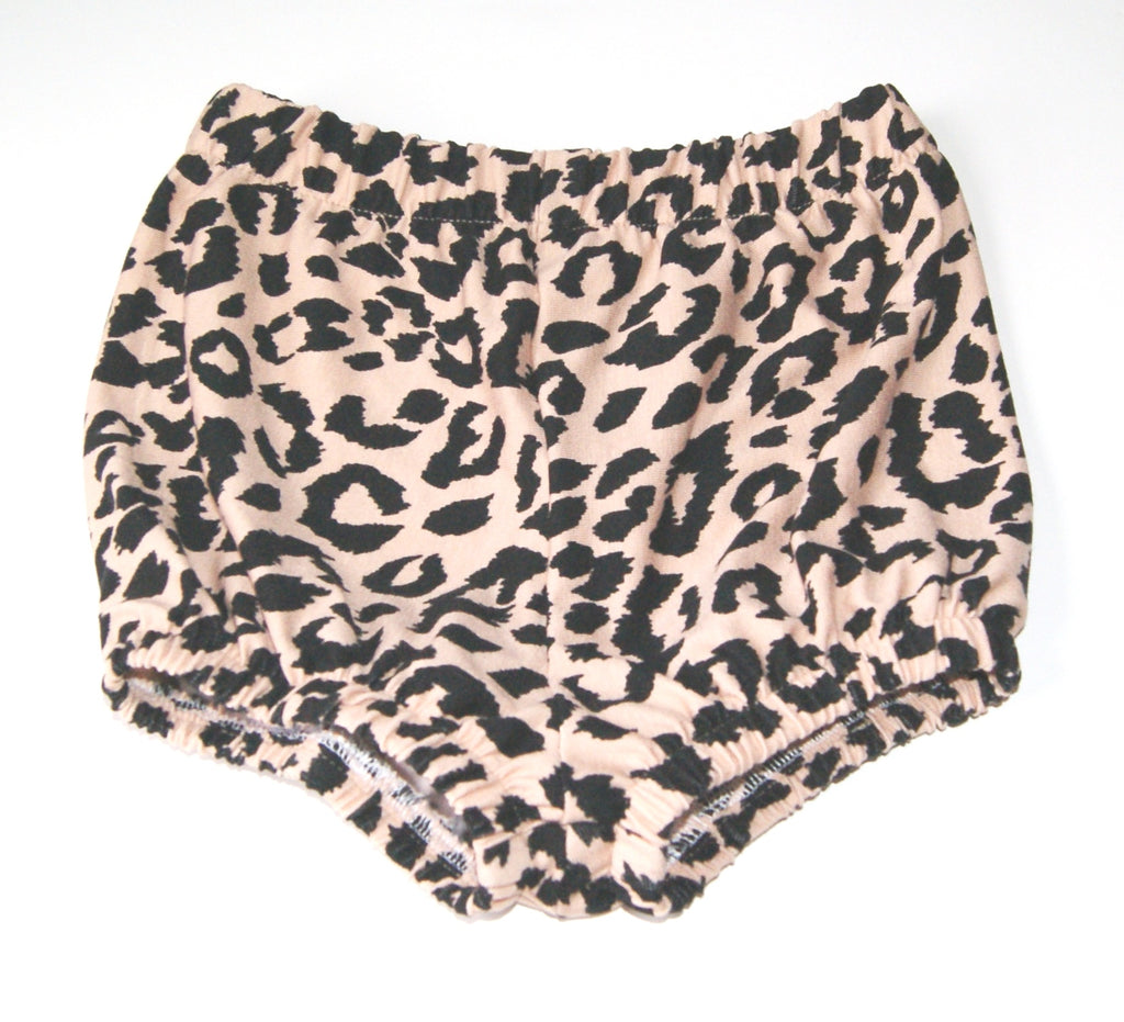 Leopard print baby bloomers