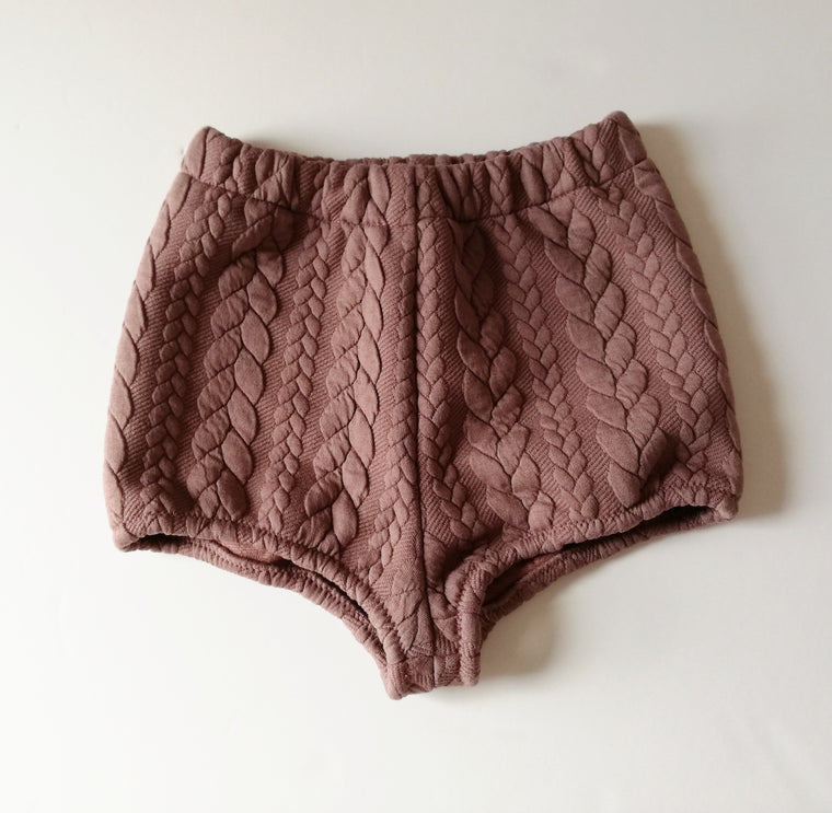 Mauve Cable knit Bloomers