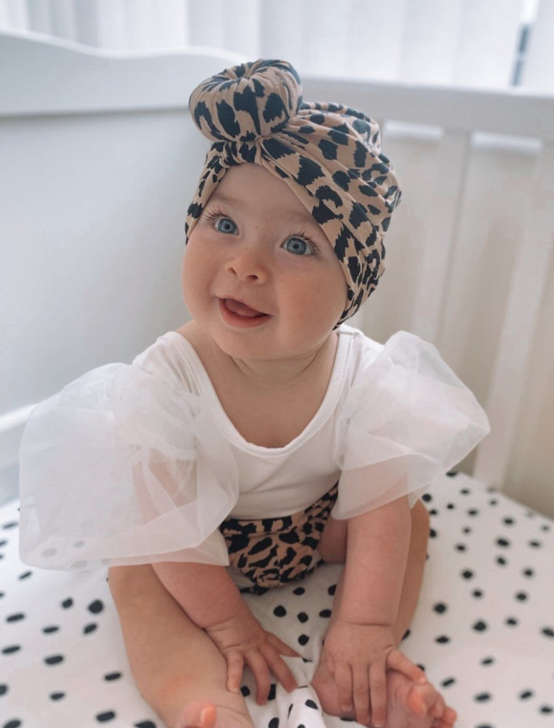 Cheetah bloomer and Turban set