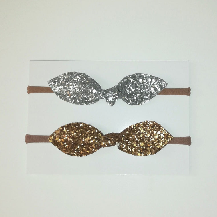 Glitter Hair Bow set