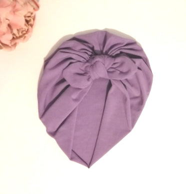 Baby turban with Bow- Purple
