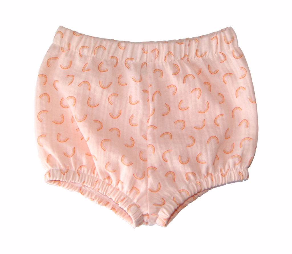 Peach rainbow Bloomers for baby and toddler