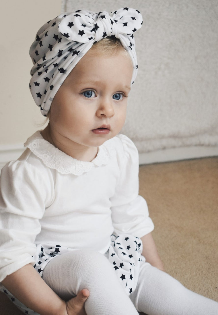 Baby turban with Bow- Stars