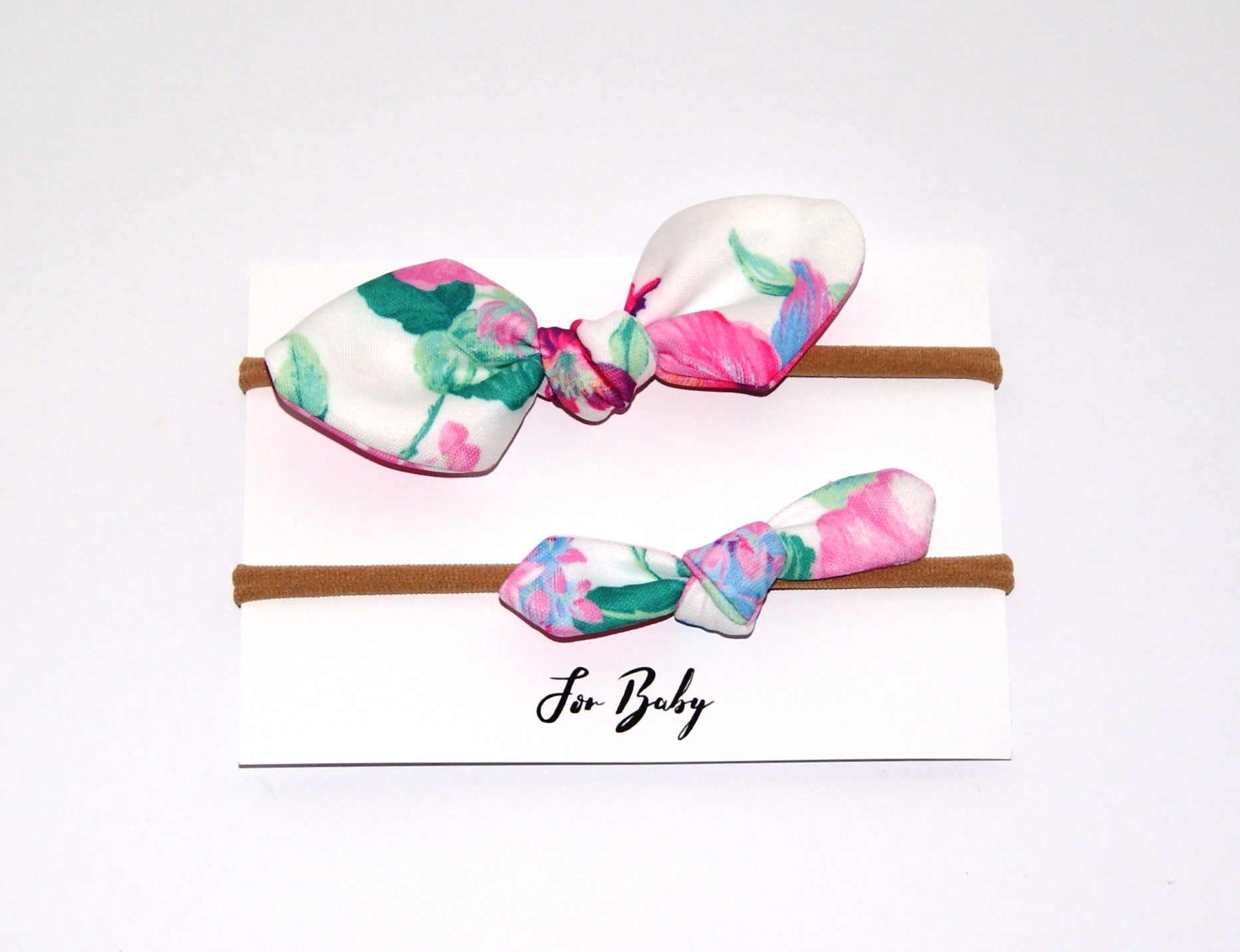 f983730dd0bb0 Mini Hair Bow Duo- Floral Bright