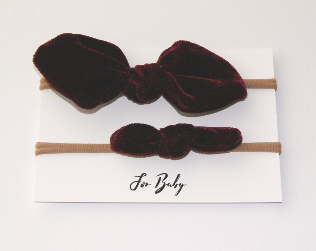 Girls headband in velvet
