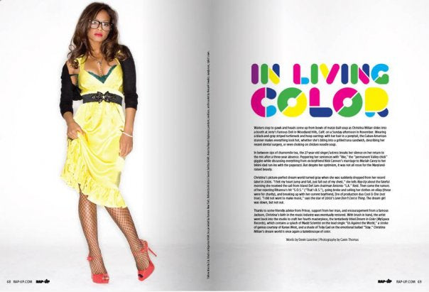 Christina Milian in Rap-Up Magazine